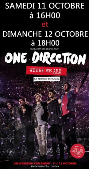 ONE DIRECTION : LE CONCERT AU CINEMA
